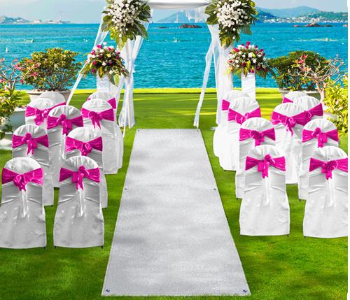 Wedding Aisle Runner Turf White Rug Street